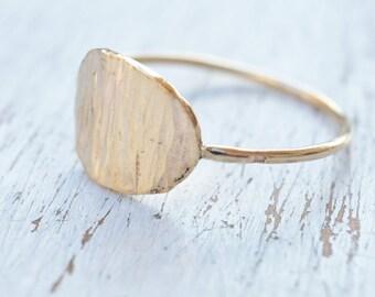 gold filled ring, gold ring,stacking ring, hammered gold ring,statement ring,gold ring for women- 21240