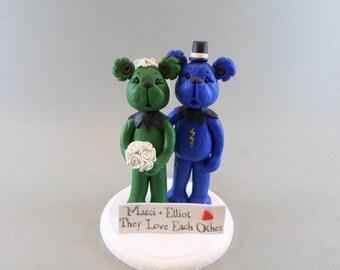 Custom Handmade Bears Wedding Cake Topper