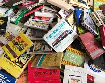 Vintage Match Book Lot, 20 Vintage Match Books, Vintage Matchbooks