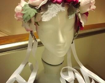 Pink Floral Fae Crown