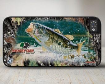 Camo Phone Case Mossy Oak Break Up Bass Fishing iPhone   Case, Bass Fisherman Camo iPhone Case, iPhone Case Protective Phone Case-50-8035