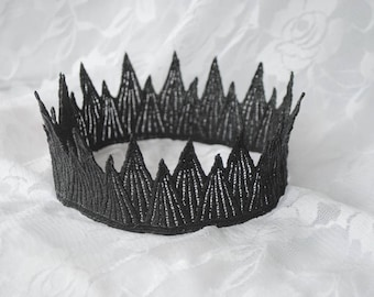 "Wicked Queen Black Crown -  ""Wicked Crown"" - halloween costume, evil queen crown, birthday crown"
