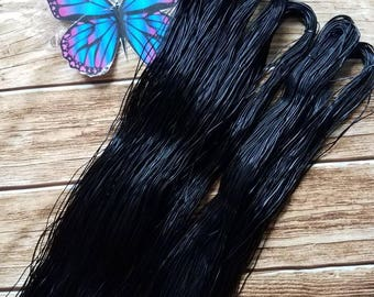 6 New African Rubber Hair Thread For Threading/Stretching Out Natural Hair .