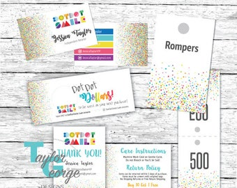 Dot Dot Smile Business Card Marketing Kit Bundle - Smile Cash - DDS Business Cards - Dot Dot Dollars - Confetti - Laundry Care Cards