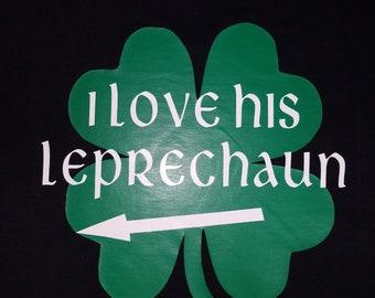 I Love Her Leprechaun Shirt