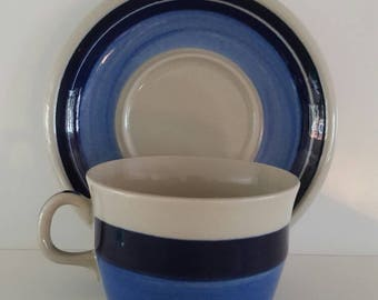 Rorstrand Tea Coffee Cup by Marianne Westman for Rorstrand called Mira Mare Stoneware Scandinavian Vintage
