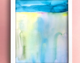 Landscape V - Original Watercolor Painting - Abstract Art