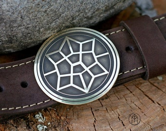 "Leather belt with brass buckle ""Thor: Ragnarök"""