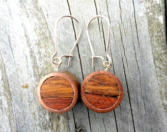 Earrings copper and wood. Created Mael