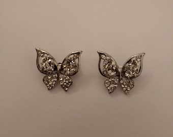 Little Butterfly Brooches..Pair of collar Brooches.