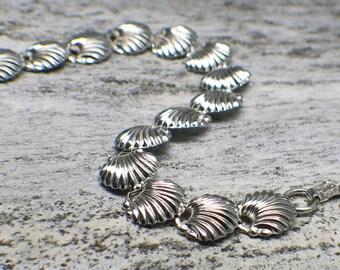 Sterling Silver Vintage Seashell Bracelet