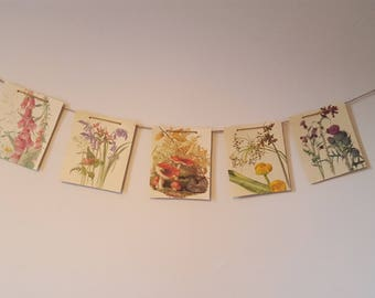 Paper Bunting, Country Diary Of An Edwardian Lady, Eco Friendly Banner, Flower Garland