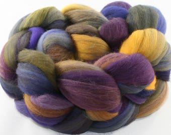 Hand Dyed roving - Superwash Targhee wool spinning fiber