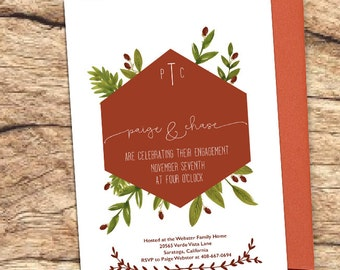 Winter Engagement Party Invitation- Printable
