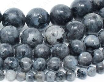 "Labradorite Larvikite Beads Natural Gemstone Round Loose - 4mm 6mm 8mm 10mm 12mm - 15.5"" Strand"