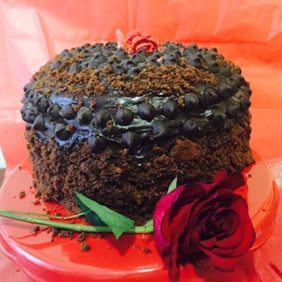 Vegan GLUTEN FREE  Double dark chocolate  cake, Natural and Healthy ingredients,Love,Birthday,Wedding.