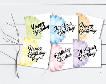Assorted Geometric Floral Birthday Card Pack
