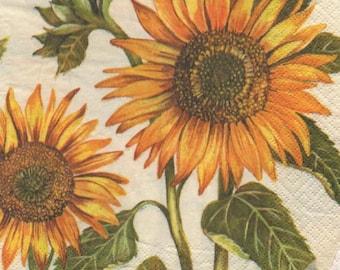 3224 - 1 paper flower sunflower towel