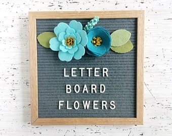 NEW Felt Letter Board Flowers - Add-ons for Felt Letter Boards - Decor for Photo Props, Parties, Showers and Every Day - Aqua / Turquoise