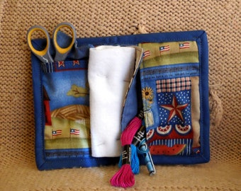 Colonial Needle Book, Needle Case, Hand Sewing Organizer