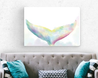 Original painting | Canvas art print | Wall decor | Giclee print | Abstract art | Watercolor painting | living room decor | Gift for her