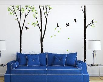 pochoirs arbre g ant etsy. Black Bedroom Furniture Sets. Home Design Ideas