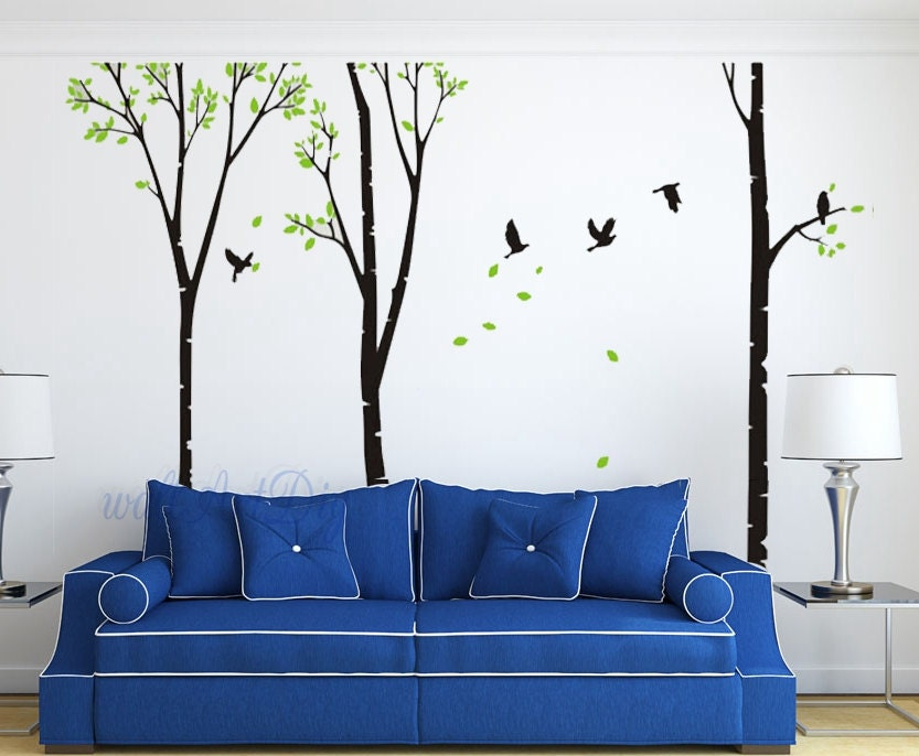 Arbre mural Stickers arbre mur pochoirs géant arbre mur murale