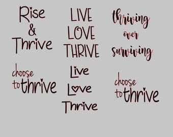Thrive Decals Set of 6