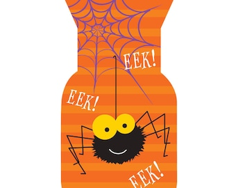 Halloween Treat Bags [20ct] Cute Spider Cello Kids Classroom Party Supplies Favors Loot Goodie Bag