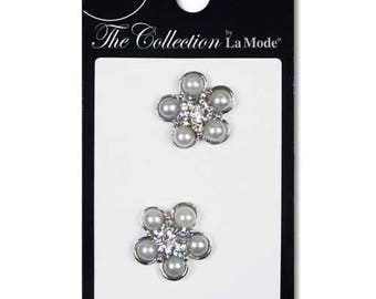 Lot of The Collection Crystal Pearl & Rhinestone Buttons Fashion Shank Button