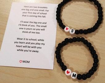 Back to School 2 Bracelet Set (mother daughter, father son)