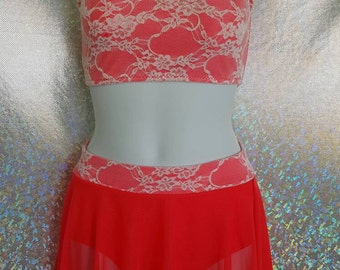 Lace Dance Costume with OPTIONAL Swarovski  BLING! ANY color