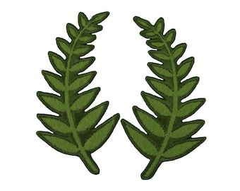 Fern Iron On Applique, Fern Iron On Patch, Plant Patch, Leaves Patch, Leaf Applique, Fern Applique, Kids Patch, Embroidered Patch