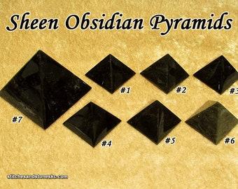 Sheen Obsidian Pyramid for crystal healing