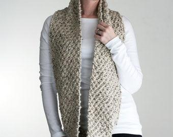 Knit Scarf Cowl Knitting Pattern - EVERLASTING
