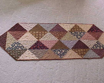 Civil War reproduction Fabrics  made into a period Style Table Runner.  FREE shipping in the Untd States.
