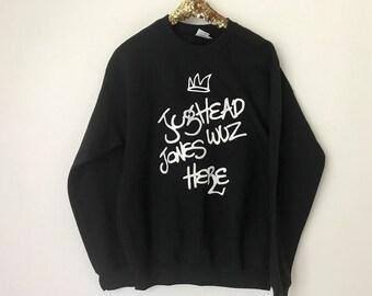 Jughead Jones wuz here Crewneck Sweatshirt, Riverdale Sweater, Jughead Crewneck, Riverdale, Tv Shows, Juggie Sweatshirt