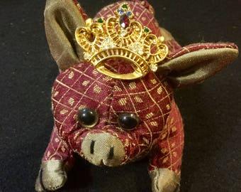 Pig Pincushion Sand Pincushion Silk Tapestry Pincushion Fabric Pincushion Asian Pincushion Small Jewelry holder Pin Holder cloth pincushion