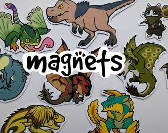Monster Hunter - Cute Decorative Monster Magnets (average 8) - choose from over 70 designs