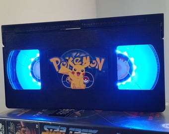Retro VHS Lamp Pokemon Pikachu Night Light Table Lamp. Order Any Film,  Movie,