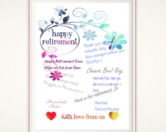 Retirement Gift for Woman - Retirement PRINTABLE, Retirement Guest Book, Retirement Print, Retirement Gifts,, Retired Teacher Gifts, Party