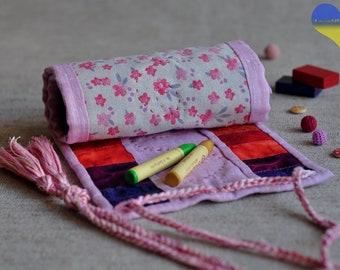 Crayon Holder, Crayon Wallet, Crayon Roll, Crayon Organizer, Crayon Roll up, Crayon Keeper, Crayon Tote, Crayon Case, Crayon Gift, Waldorf