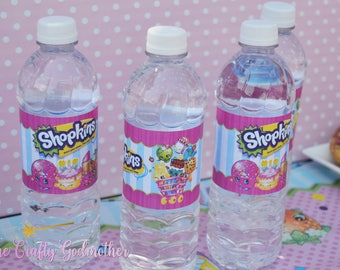 Shopkins Birthday Party Water Label Wrappers