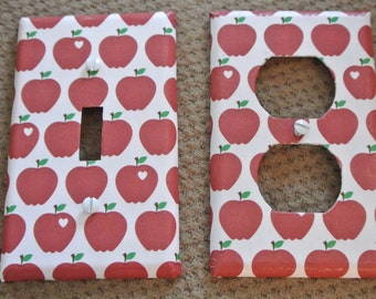 Switch plate cover - apple