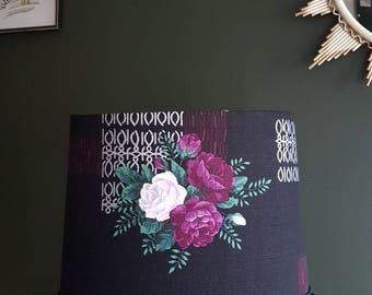Beautiful vintage inspired barkcloth lamp shade 1950s