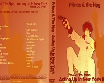 Prince Live Act I Tour DVD New York 1993 Very Rare
