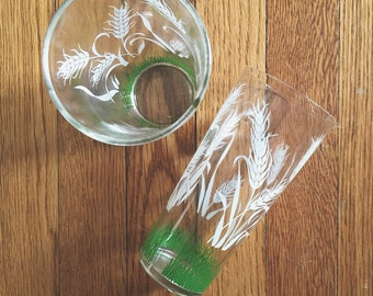 Vintage Mid Century 40s - 50s Juice Tumbler Glasses