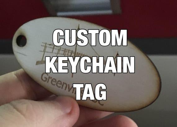 Custom Laser Engraved Keychain Tag
