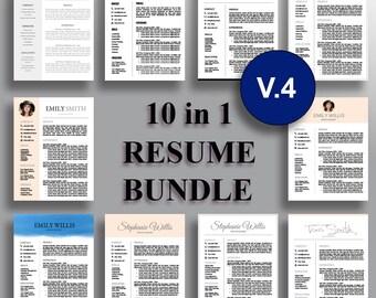 Resume Bundle V.4 Professional Resume Template CV Template Cover Letter for Word Professional Resume Design Instant Download for MS Word
