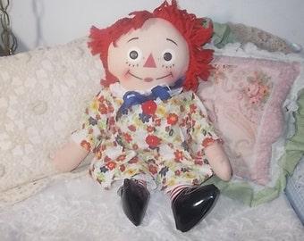 Vintage Raggedy Ann I Can Do It Myself Doll, Raggedy Ann Doll, Rag Doll, I Can Do It Myself Doll, :)s*